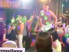 Cfnm amateur party girls stripping