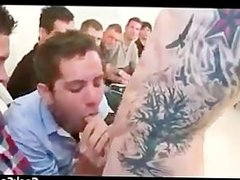 Huge cock sausage gay orgy party part6