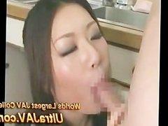 Japanese Slut wife Licks Repairmans Ass