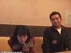 Asian slut gets fingered in public place part4
