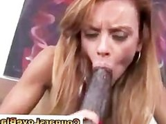 Horny cougar gets slammed with interracial cock