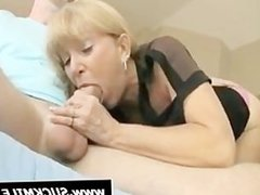 Mommy sucking penis in bedroom