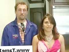 Teen chick gets tied up by a plumber