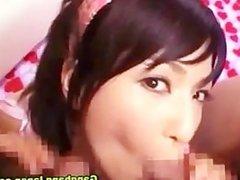 Asian mmf threesome blowjob facial