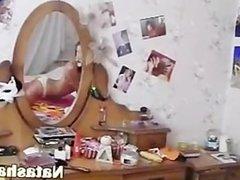 naked cheerleader in her room