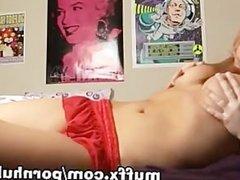 Blonde hottie boobs tease