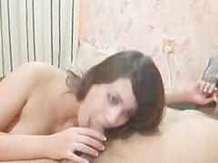 Girl sucks her boyfriends dick