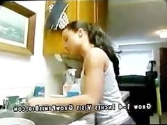Hot Chick Dirty Latina Maid