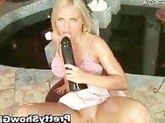 Blond slutty babe working on a huge part4