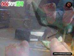 PiErotico feetplay Samantha juega con sus pies