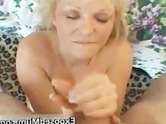 Nasty mom shows her juggs and sucks cock part2