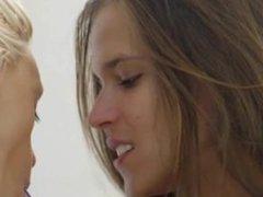 ultra sweet two lesbians in bedroom