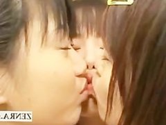 Group of Japan schoolgirl teens have lesbian foreplay
