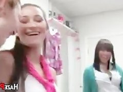Hazing College Teenagers In A Dormroom