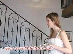 Faithful girl giving a lapdance