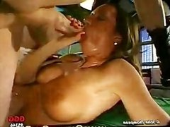 Gorgeous SLUT takes dicks in ass mouth and pussy!