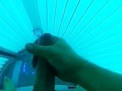 tanning booth cumshot