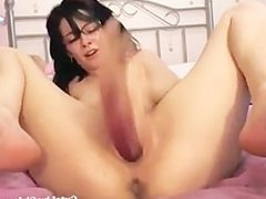 cute brunette fucking her juicy pussy hard(3).flv