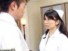 Blowjob asian nurse