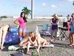 College initiation amateur lesbians