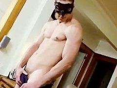 Muscled stud showing his fine hard body part2