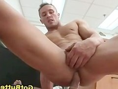 Tattooed hunk riding gay cock like a pro part4