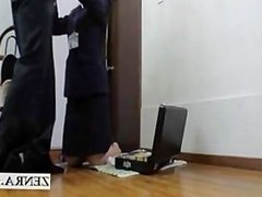 Japan sextoy milf saleswoman performs hearty blowjob