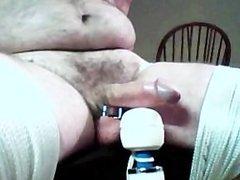 Bound to chair, vibrator orgasm, round 3