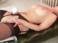 Mature takes on sex machine