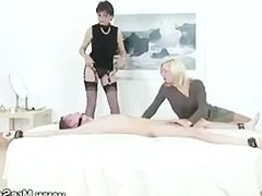 Mistress shares her servant with her friend