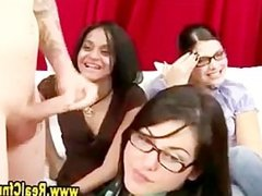 Cfnm slut in spex gets naughty