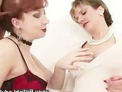 Mature british femdom lesbian play