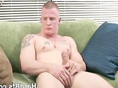 Nasty man jerking his large cock