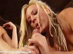 Brooke and Holly share one dick on their ass