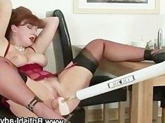 Mature british slut fucked by machine