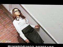 Big-tit brunette Latina teacher fucks young teen slut schoolgirl