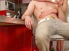 luxury anal bang in kitchen