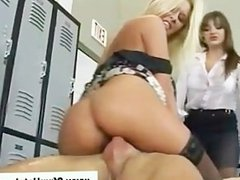 Cfnm babe gets hot fucking guy