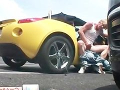 Blond dude gets ass fucked in car part5