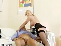 Blonde younger girl cowgirl