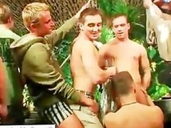 Group of aroused drunk dudes part6