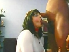 Beautiful wife sucks hubbys black cock