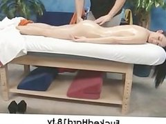 Big Tit Teen Seduced by Massage