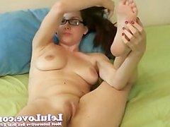 Lelu Love-Glasses Creampie Masturbation Instruction