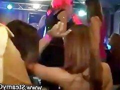 Cfnm hotties go wild for strippers