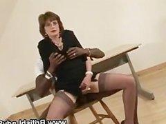 British mature lady foreplaying