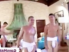 Straight guys made to suck cock after wrestling