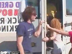 Amazing hardcore orgy scene in a van