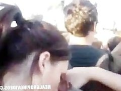 White Girl Getting Ass Groped at Some Festival