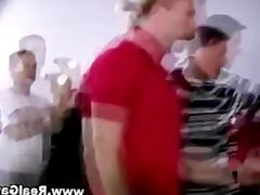 Frat party watches twink